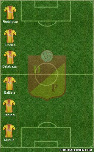 CS Deportivo Pereira 3-5-2 football formation