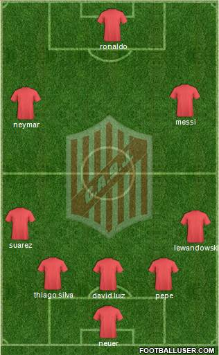 9 de Julio 3-5-2 football formation