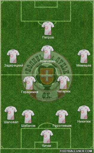 SC Volyn Lutsk 4-2-3-1 football formation