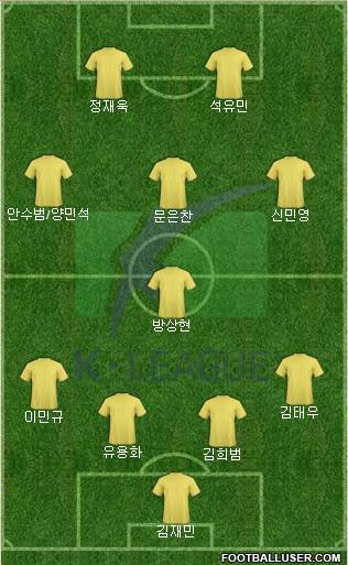 K-League All-Stars 4-1-3-2 football formation
