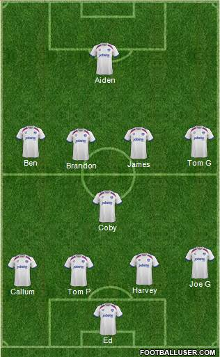 Portsmouth 4-1-4-1 football formation