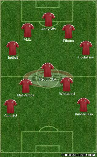 Austria 4-1-4-1 football formation