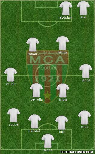 Mouloudia Club d'Alger 4-4-2 football formation