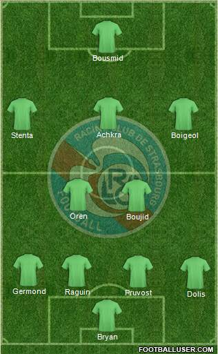 Racing Club de Strasbourg-Football 4-2-3-1 football formation