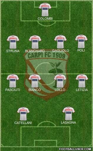 Carpi 4-4-2 football formation