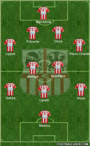 Athletic Club Ajaccien Football 4-4-1-1 football formation