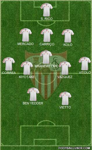 Sevilla F.C., S.A.D. 3-5-2 football formation