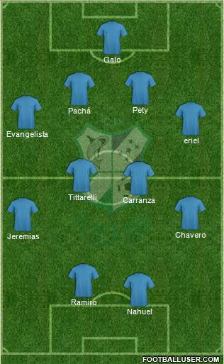 CD Platense 4-4-2 football formation