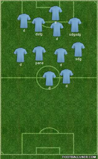 KF Ulpiana 3-5-2 football formation