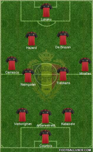 Belgium 4-2-2-2 football formation