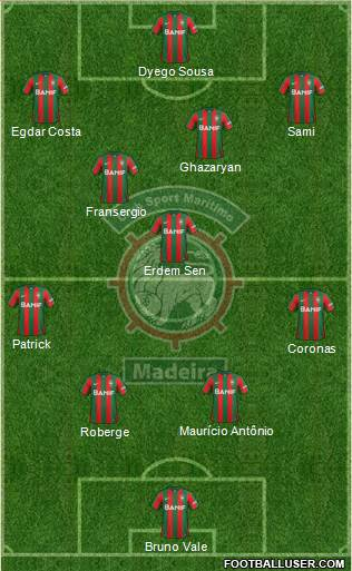 Clube Sport Marítimo - SAD 4-1-2-3 football formation