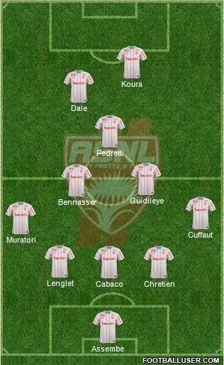 A.S. Nancy Lorraine 3-5-2 football formation