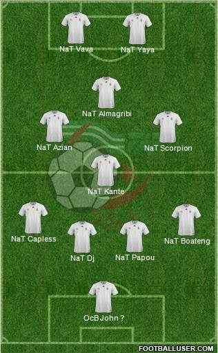 Algeria 5-4-1 football formation