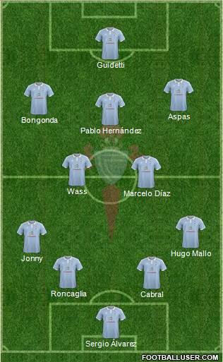 R.C. Celta S.A.D. 4-5-1 football formation