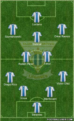 C.D. Leganés S.A.D. 4-5-1 football formation