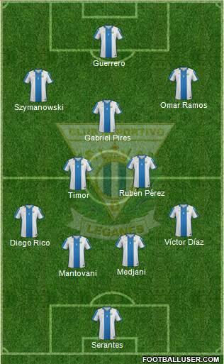 C.D. Leganés S.A.D. 4-1-4-1 football formation