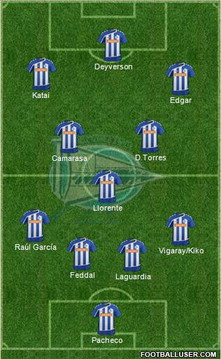 D. Alavés S.A.D. 3-4-3 football formation