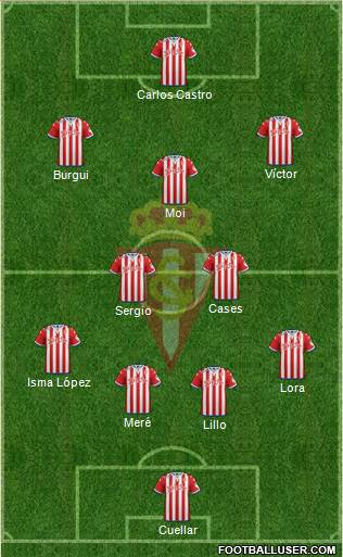 Real Sporting S.A.D. 3-5-2 football formation