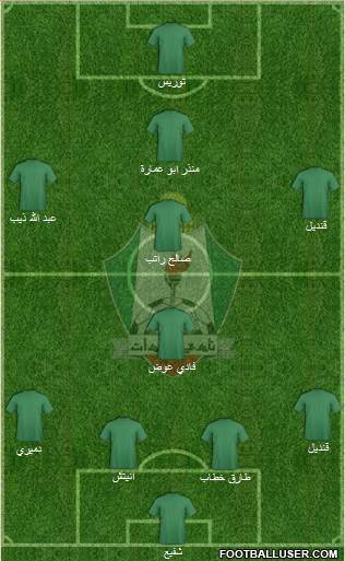 Al-Wehdat 4-3-2-1 football formation