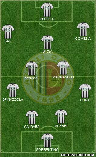 Ascoli 4-2-3-1 football formation