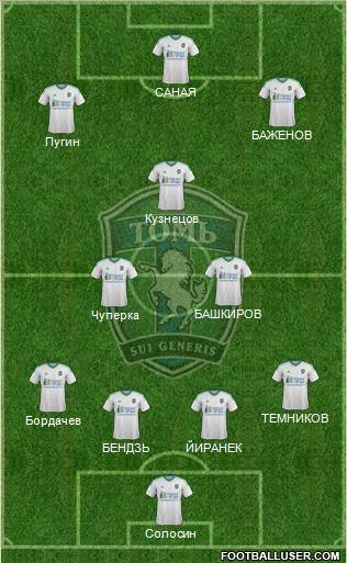 Tom Tomsk 4-2-3-1 football formation