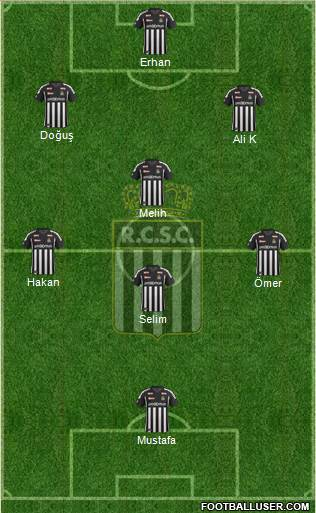 Sporting du Pays de Charleroi 4-1-4-1 football formation