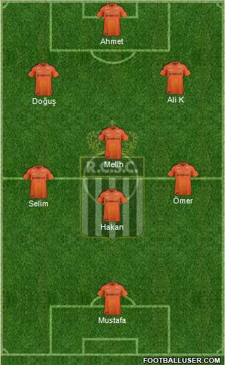 Sporting du Pays de Charleroi 4-1-3-2 football formation