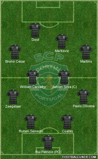 Sporting Clube de Portugal - SAD 4-4-1-1 football formation