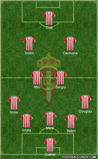Real Sporting S.A.D. 5-4-1 football formation