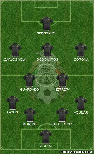 Mexico 4-2-3-1 football formation