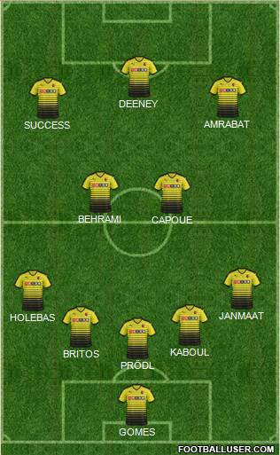 Watford 5-3-2 football formation