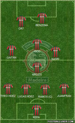 Clube Sport Marítimo - SAD 4-4-2 football formation
