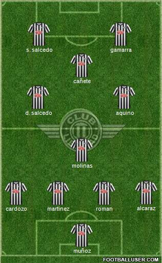 C Libertad 4-1-4-1 football formation
