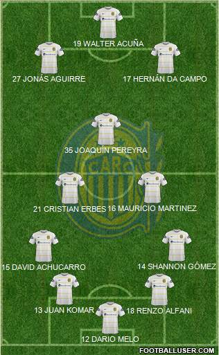 Rosario Central 4-2-1-3 football formation