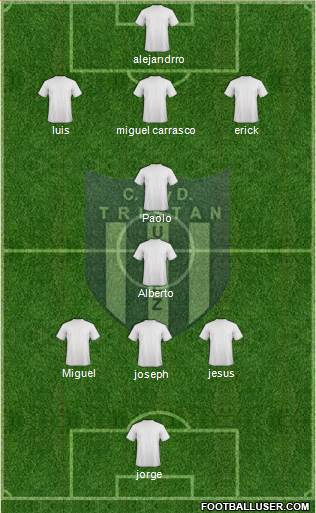 Tristán Suárez 4-4-2 football formation