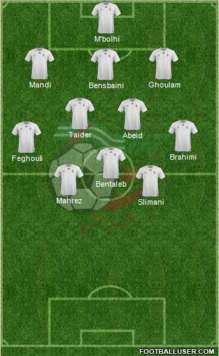 Algeria 3-4-3 football formation