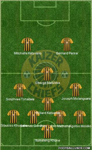 Kaizer Chiefs 4-1-3-2 football formation