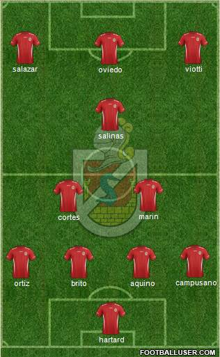 CD La Serena S.A.D.P. 4-1-4-1 football formation