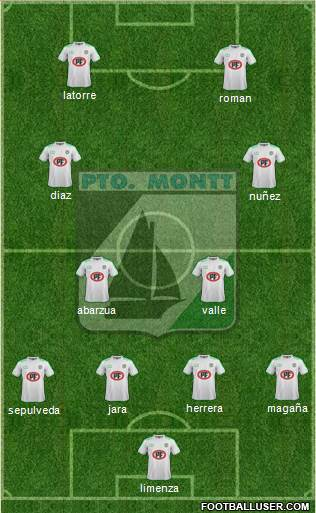 CD Puerto Montt 4-1-4-1 football formation