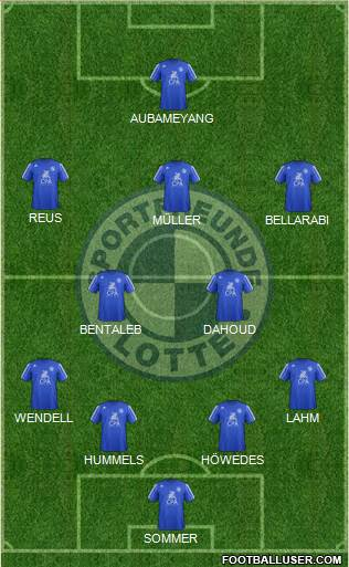 Sportfreunde Lotte 4-2-3-1 football formation
