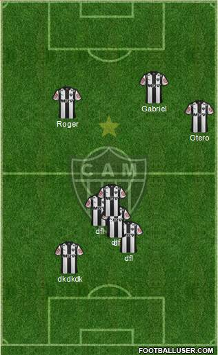 C Atlético Mineiro 5-4-1 football formation
