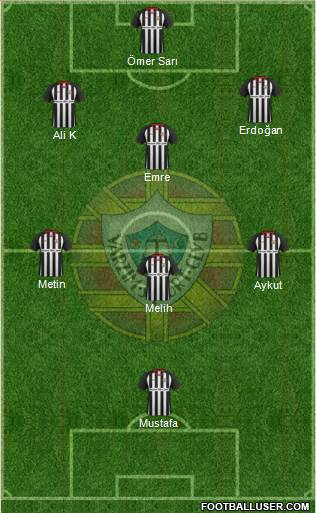 Varzim Sport Clube 3-5-2 football formation