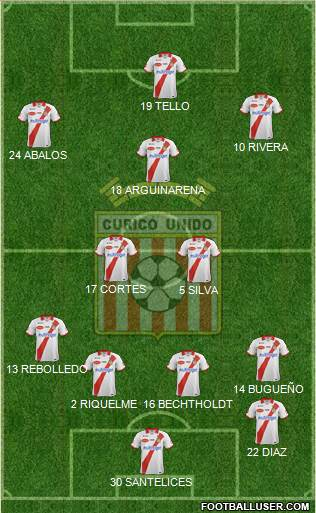 CD Provincial Curicó Unido 4-1-4-1 football formation