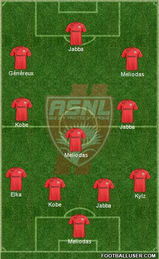 A.S. Nancy Lorraine 4-3-3 football formation