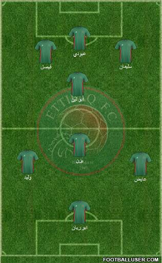 Al-Ittifaq (KSA) 5-4-1 football formation
