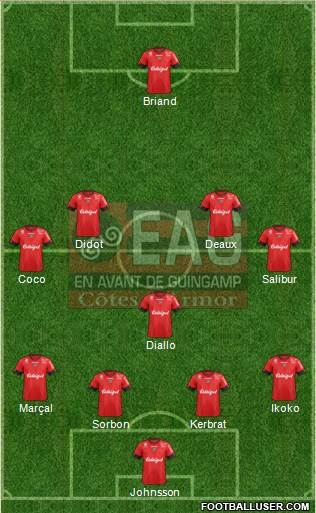 En Avant de Guingamp 4-1-4-1 football formation
