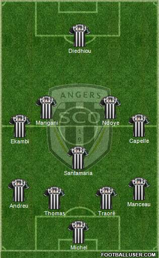 angers sco france football formation