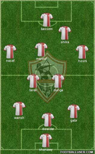 Zamalek Sporting Club 4-2-2-2 football formation