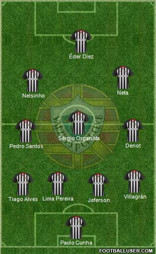Varzim Sport Clube 4-3-1-2 football formation