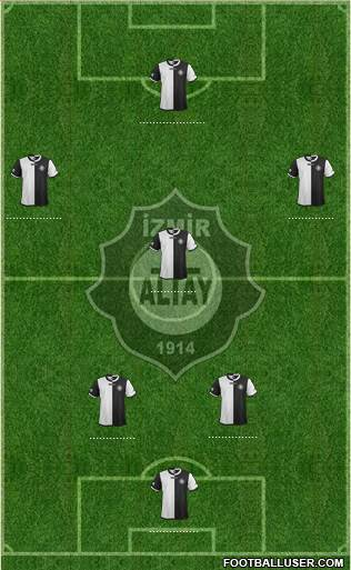 Altay 4-5-1 football formation